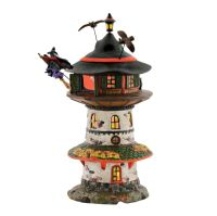 Department 56 Snow Village Halloween Witch Way Home Tower 4051009 Retired